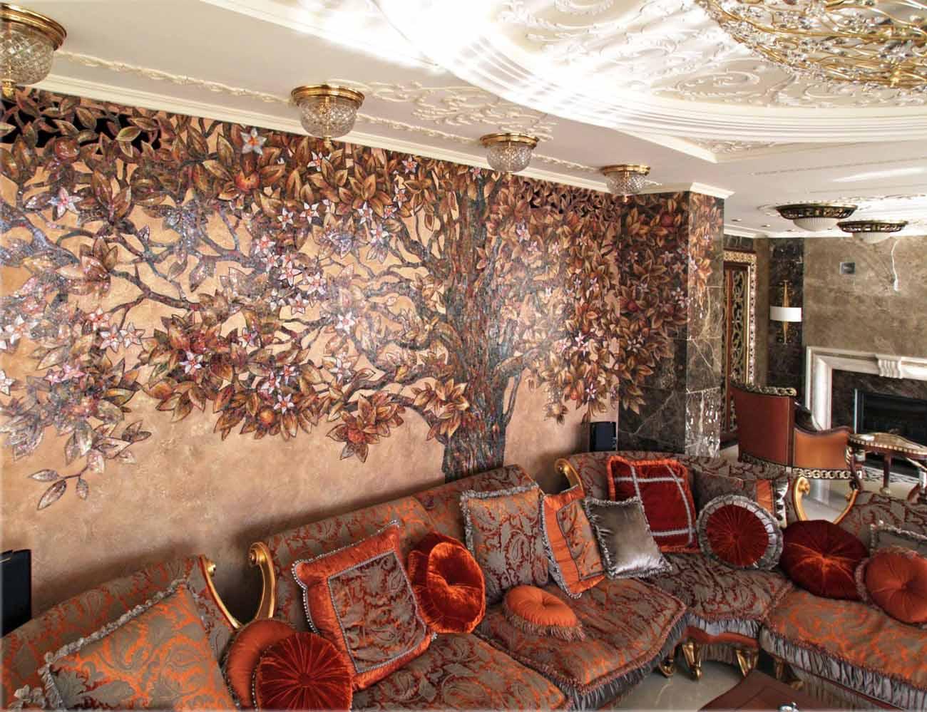мозаичное пано на стене